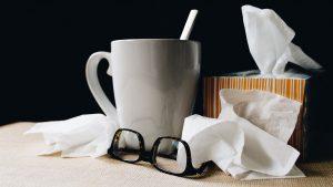 Flu, Tea, Tissues - Event Cover